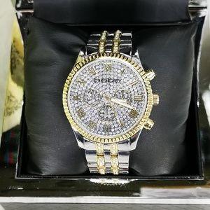 bebe Women's Gold/Silver Bling Rhinestones Watch